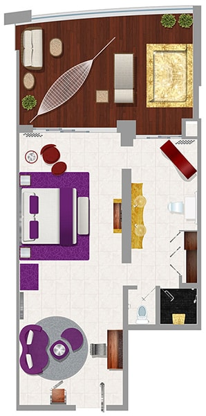 Floor plan Mousai Suite